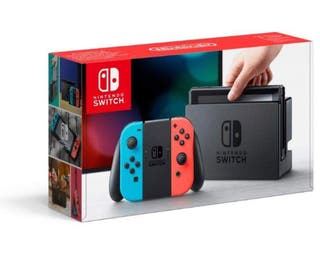 Nintendo Switch Consola color Azul/Rojo Neón