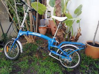 Bicicleta plegable.