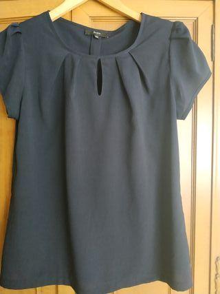 Blusa azul marino T42