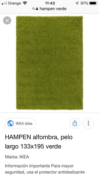 Alfombra HAMPEN de Ikea... perfecto estado