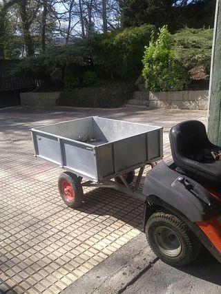 remolque tractor corta césped