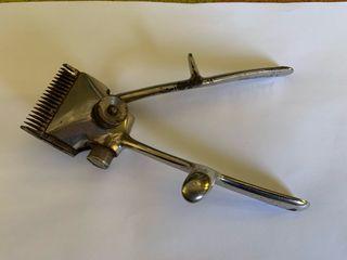 2 Corta pelos manual antiguo y cuchilla de afeitar