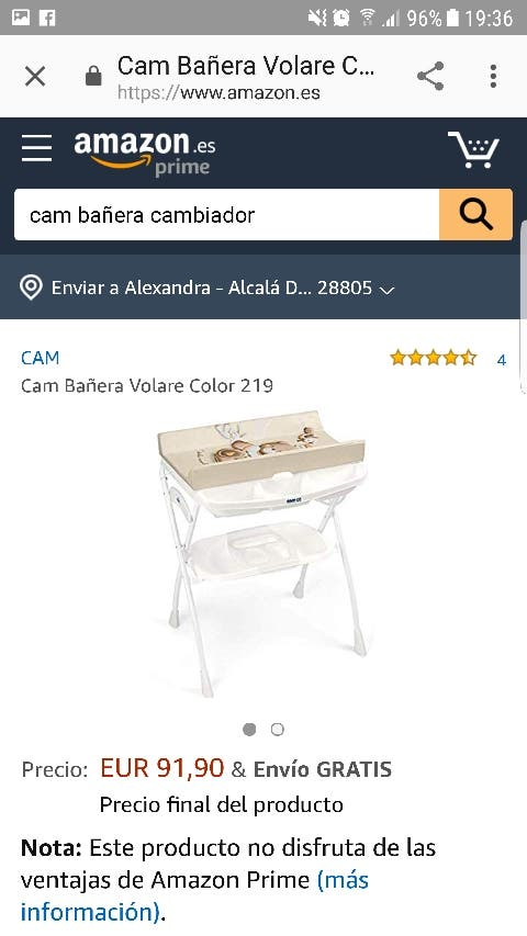 Bañera cambiador Cam il mundo del bambino
