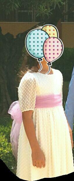 Vestido niña. primera comunión. Talla 11/12.