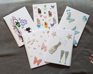 Hand made cards for sale £1.20 or 3 for £3.00