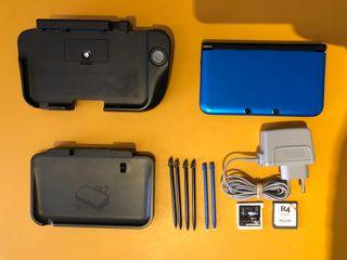 Nintendo 3DS XL Azul con Caja y Accesorios
