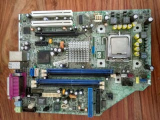 placa base con CPU intel