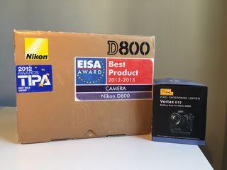 Nikon D800 + Accesorios (desc) *NEGOCIABLE*