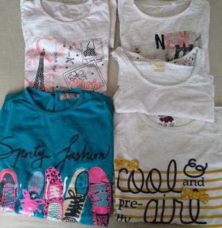Lote camisetas niña 10-12