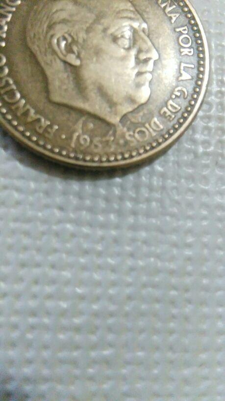 moneda de una peseta con error