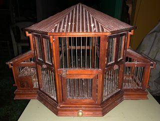 jaula pajaros hecha a mano