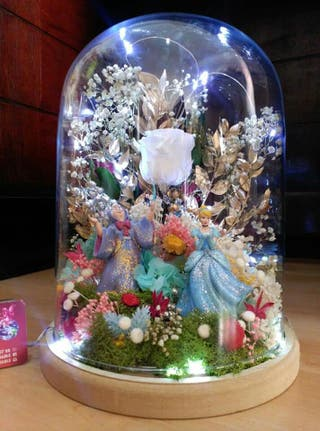 cúpula cristal cenicienta 30x22,5cm