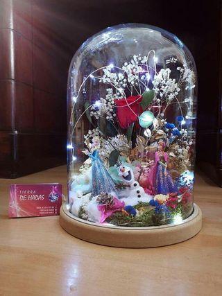 cúpula cristal frozen 30x22,5cm