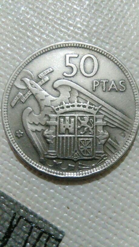 moneda de 50 pesetas con error