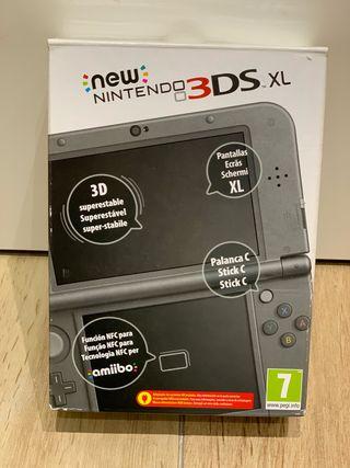 Nintendo 3DS XL / 4 Juegos / cargador / funda.