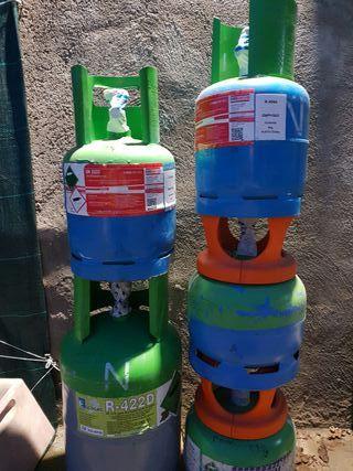 bombonas y botellas de gas refrigerante R410A R407