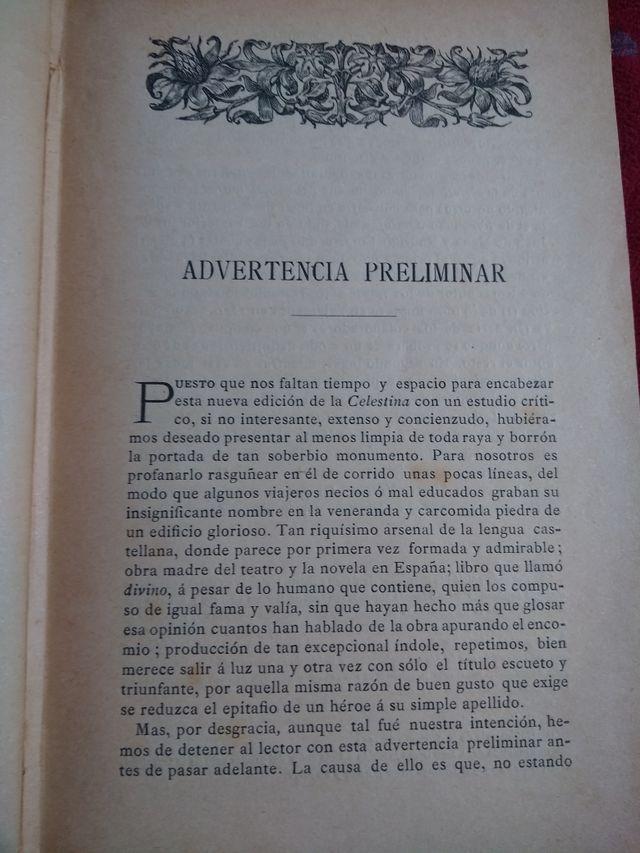 Libro antiguo la celestina