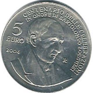 Moneda Plata San Marino 5 Euros 2004