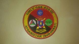 parche militar ejercito español en Afganistan