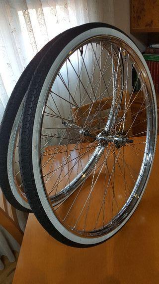 Ruedas bicicleta de varillas