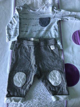 Camiseta y pantalón talla 1-2
