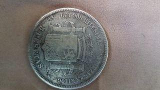 moneda española antigua de plata 1870