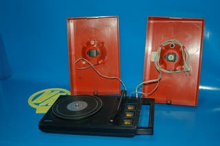 Maleta vintage Tocadiscos Philips stereo 200 color