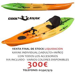 Kayak individual 1 plaza de pesca o paseo
