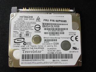 "Hitachi Travelstar 40GB IDE 1.8"" Disco Duro"