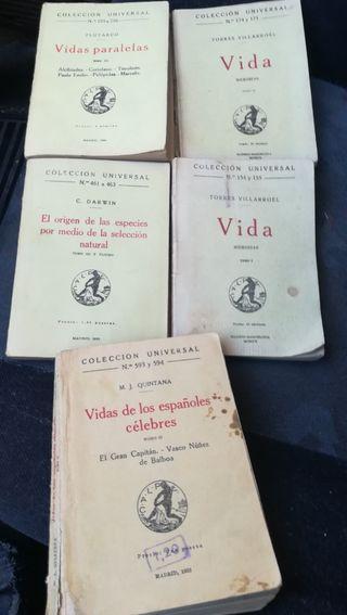 5 libros Colección Universal