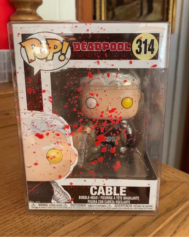 Figura funko pop cable 314 caja ensangrentada