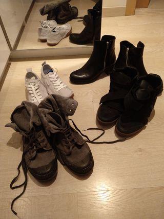 lote de 4 pares de zapatos talla 38