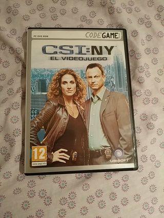 Videojuego CSI:NY para PC