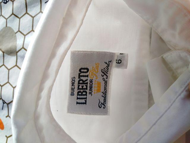 camisa liberto blanca talla 6