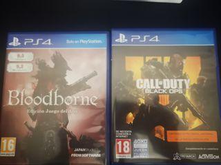 Vendo Black Ops 4 y Bloodborne