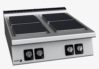 Cocina eléctrica sobremesa 4 fuegos (fondo 900)