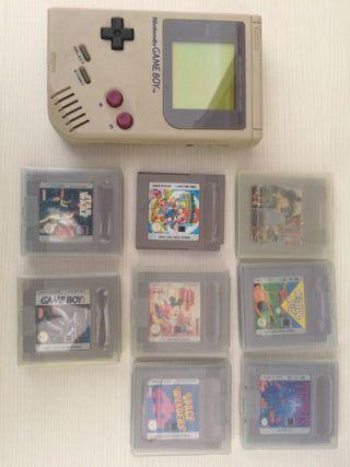 Game boy de nintendo y 7 juegos