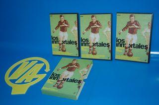 Lote 3 dvds LOS INMORTALES. ESTRELLAS DEL FUTBOL.