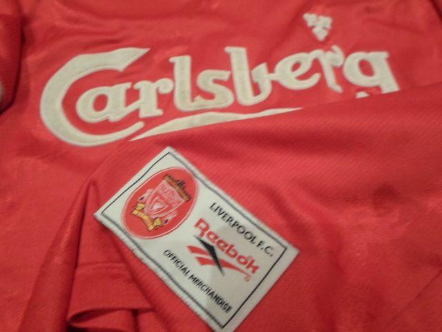 camiseta liverpool carlsberg reebok retro vintage