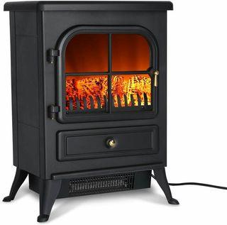 Estufa eléctrica estilo chimenea