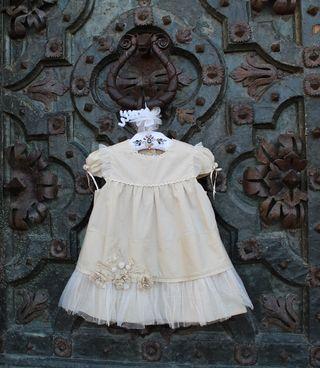Vestido fiesta niña 24-36m