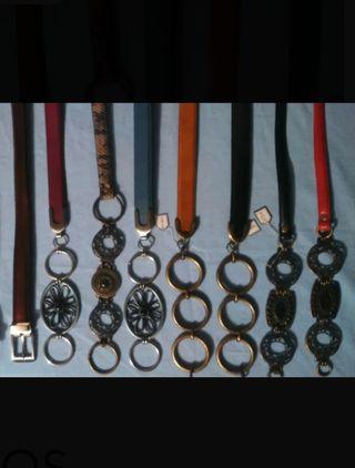 Lote 8 cinturones de piel mujer liquidación