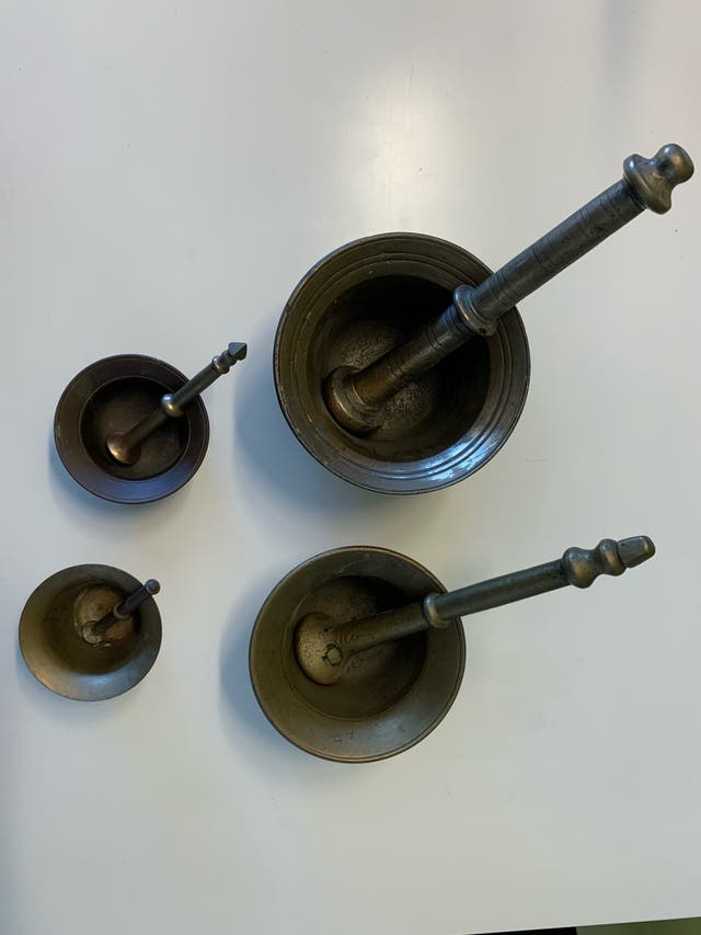Morteros Bronce antiguos