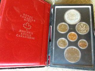 7 monedas Canadá. 1 de plata. sin uso