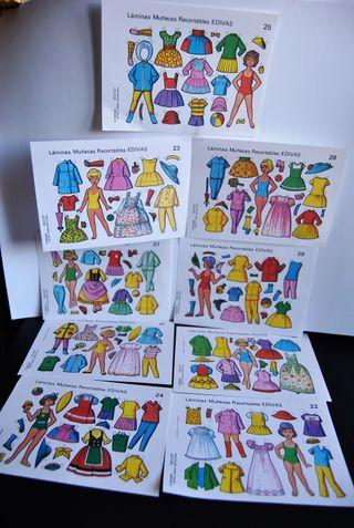 Muñecas recortables Edivas 13x20