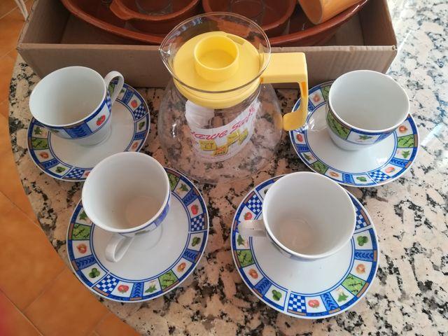 lote de tazas Jarra cazuelas vasos de chupito