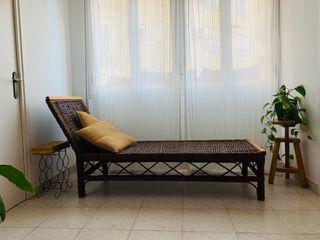 Chaiselong sofá de mimbre