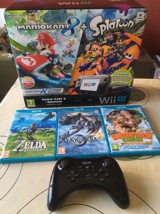 Wii U 32 Gb más 4 juegos y mando pro