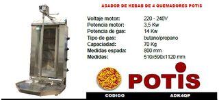 ASADORES DE KEBAB NUEVOS INDUSTRIALES, LOW COST!!