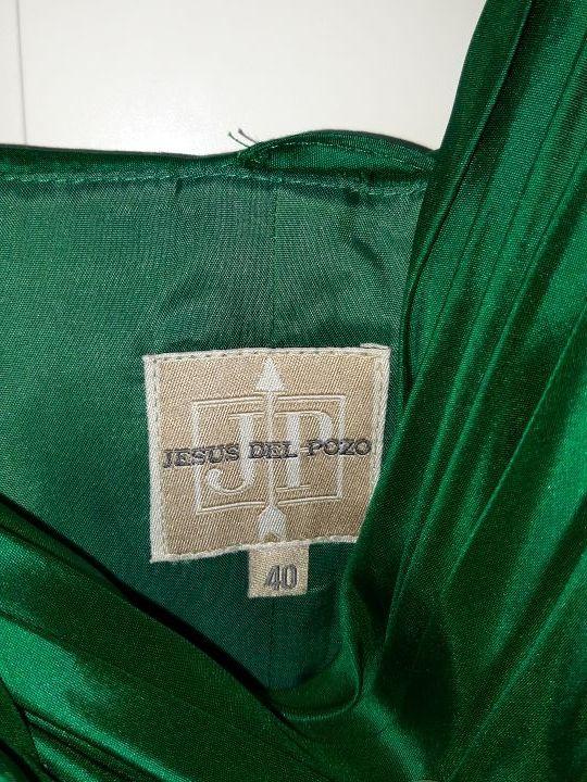 vestido eventos verde JESUS DEL POZO